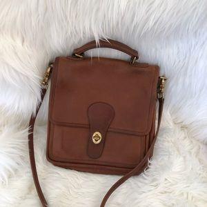 Coach vintage brown messenger crossbody bag
